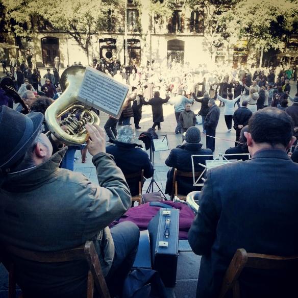 Barcelona traditional dancing