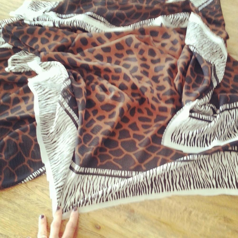 Giraffe/Zebra printed fabric