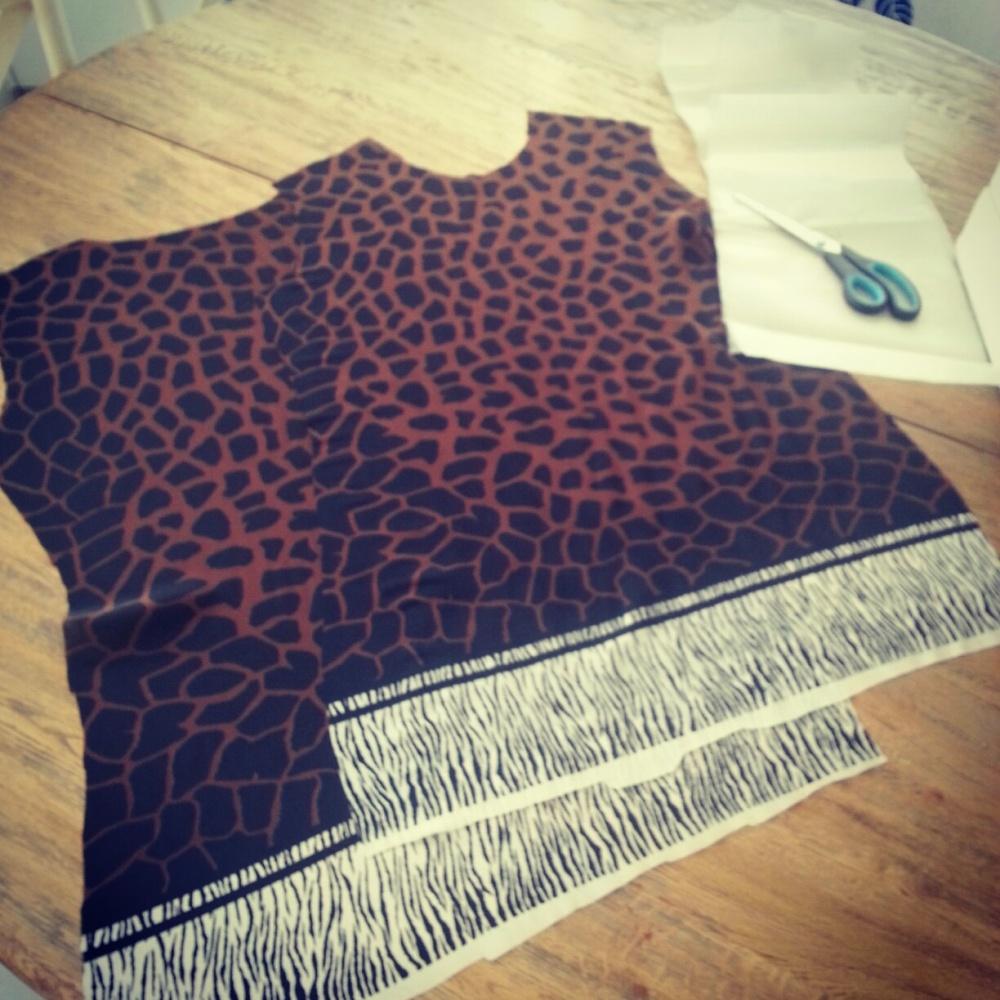 Fabric cut according to Burda