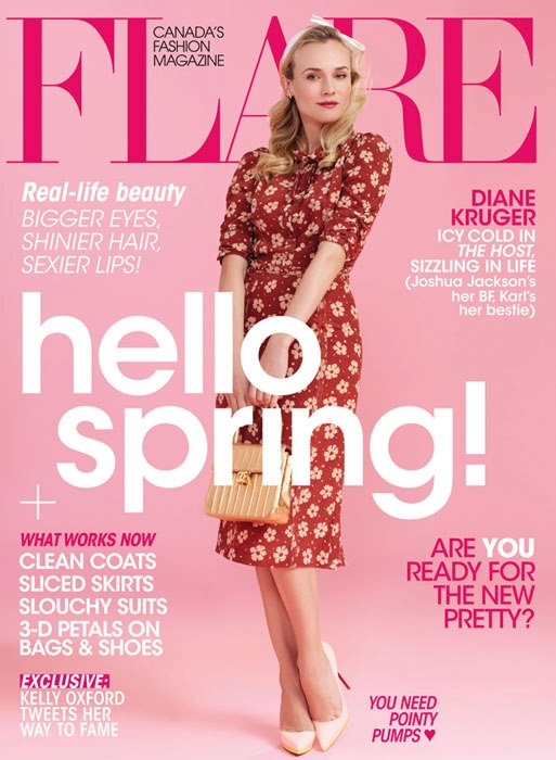 Diane Kruger on the cover of Flare magazine