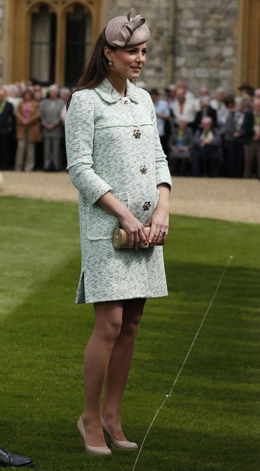 Kate Middleton in light mint-green jacket