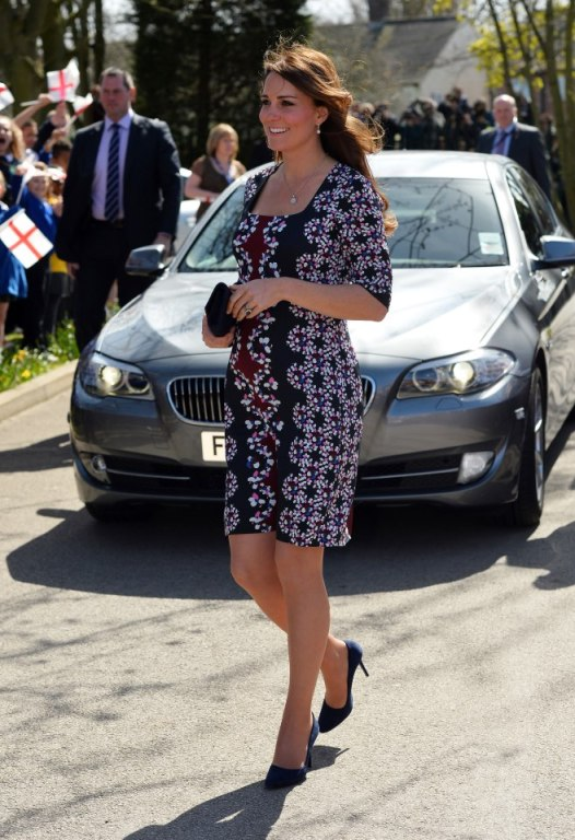 kate middleton wears Erdem patterned dress