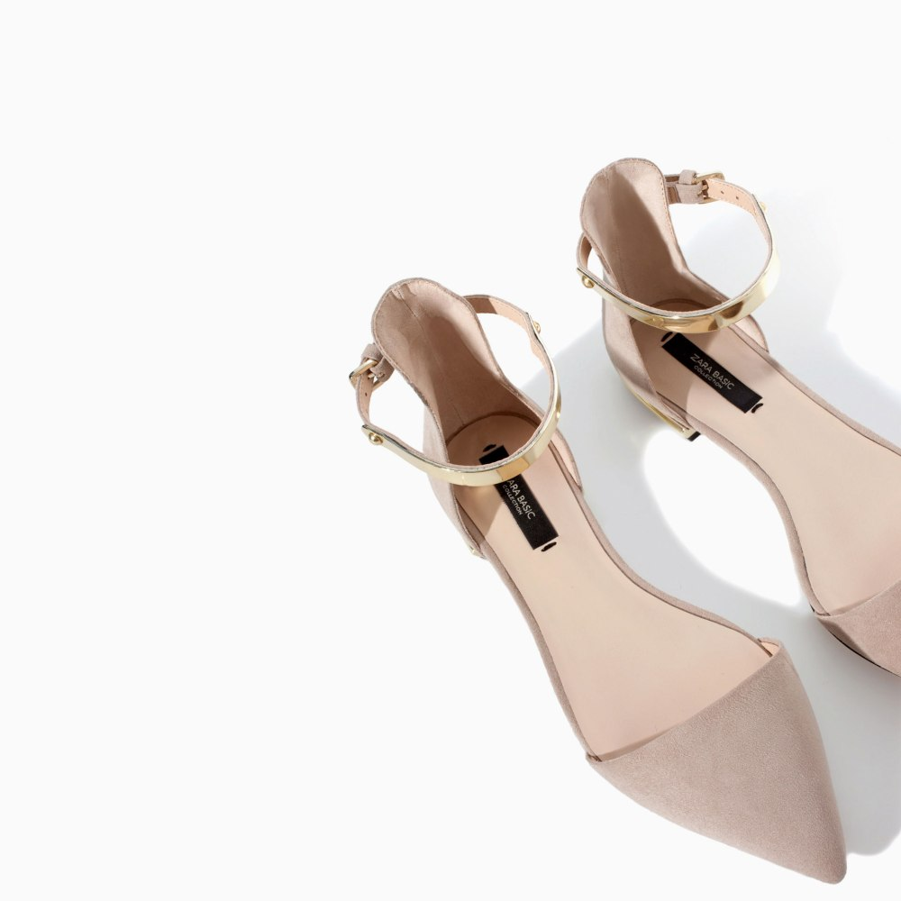ZARA - POINTY SHOES WITH ANKLE STRAP