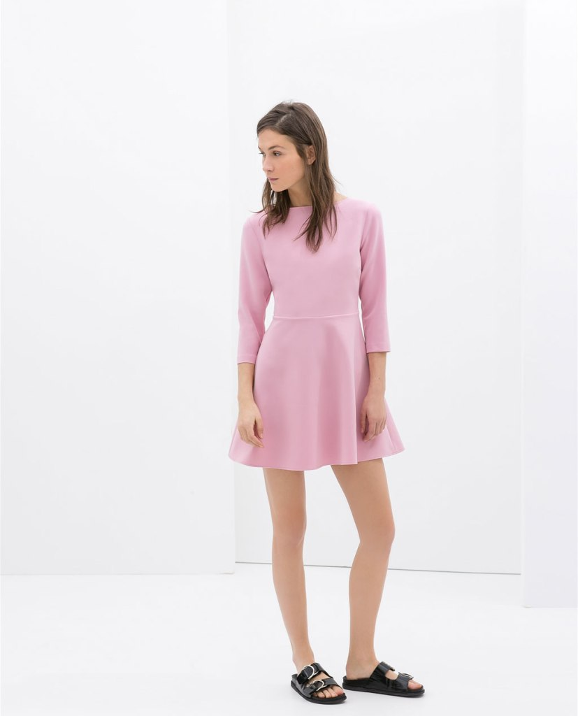 ZARA - DRESS WITH KNOTTED BACK
