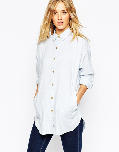 ASOS Whites Oversize Tailored Shirt