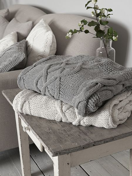 Nordic House Cable Knit Throw
